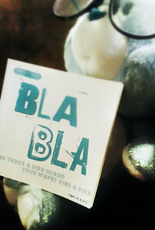 Livre bla bla des editions tornade avec un bisounours