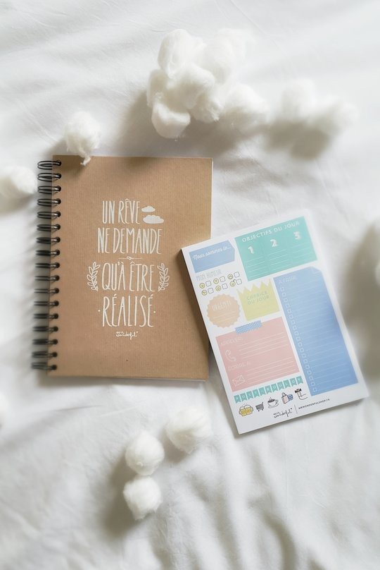 Carnet Un reve ne demande qu'a etre realise et To-do List de Mr Wonderful