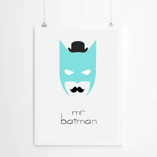 "Affiche ""Mr Batman"""