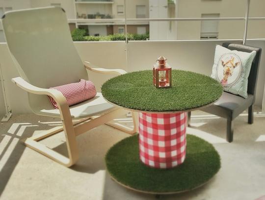 Une table pique-nique revisitée