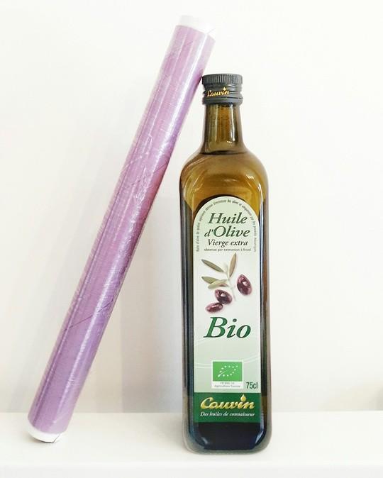 Une methode naturelle anti-poux : du cellophane et de l'huile d'olive