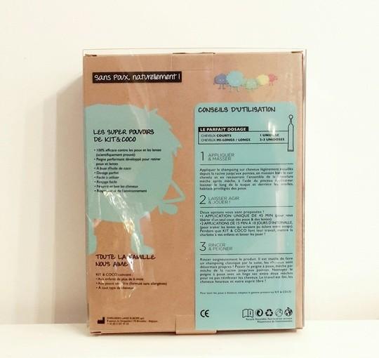 Kit & Coco - packaging de dos de ce produit anti-poux pour tous petits