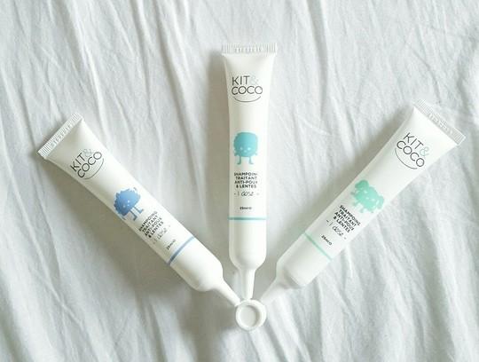 trois tubes de shampoings kit&coco
