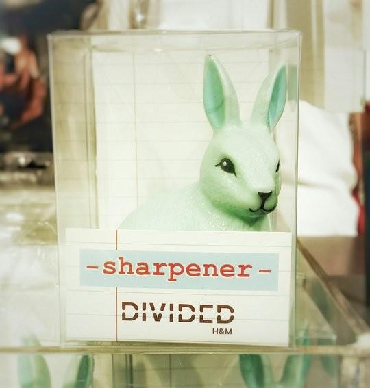 Un taille-crayon mint en forme de lapin chez H&M