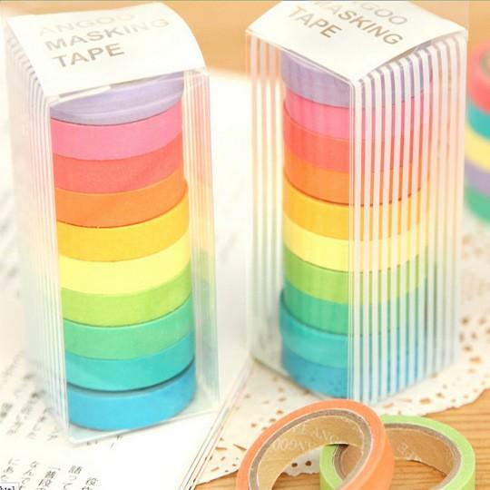Des washi tape avec des couleurs douces trouves sur eBay