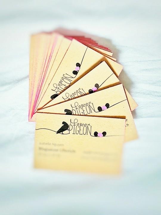 Les cartes de visite de blogueuse de Maman Pigeon