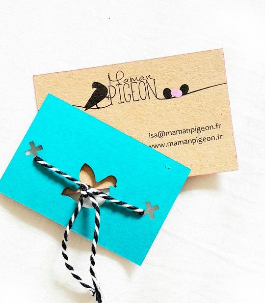 La carte de visite d'une blogueuse, celle de Maman Pigeon