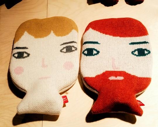 Les bouillotes en laine de Donna Wilson