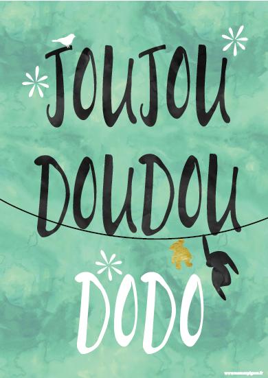 Affiche de Maman Pigeon Joujou Doudou Dodo
